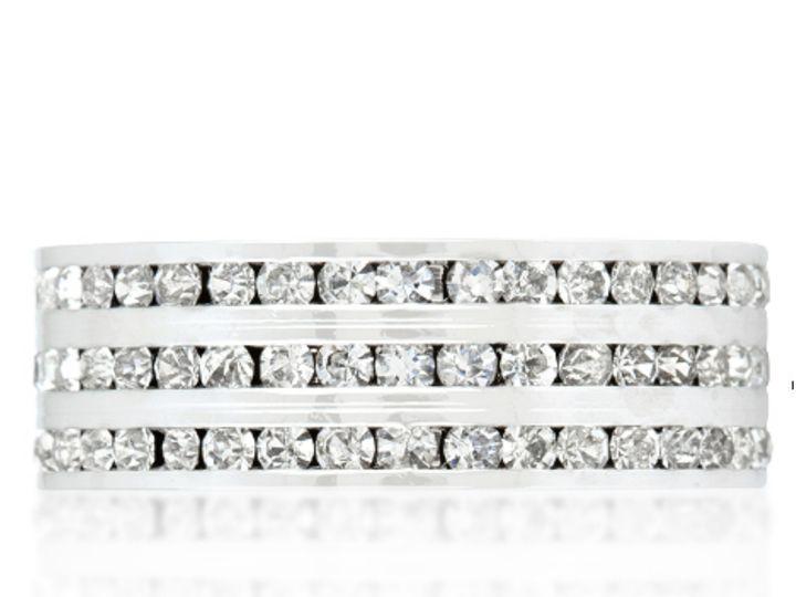 Tmx 1499963056316 3 Tyra Triple Row Eternity Stackable Wedding Band  Sierra Madre, CA wedding jewelry