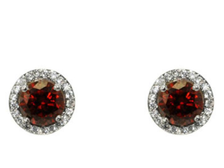Tmx 1499963235127 1 Isal Ruby Red Halo Cubic Zirconia Cz Faux Diamon Sierra Madre, CA wedding jewelry