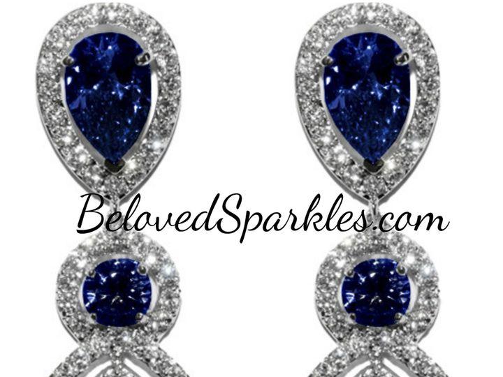 Tmx 1499963274232 1 Louisa Moissante Blue Purple Pear Double Halo Da Sierra Madre, CA wedding jewelry