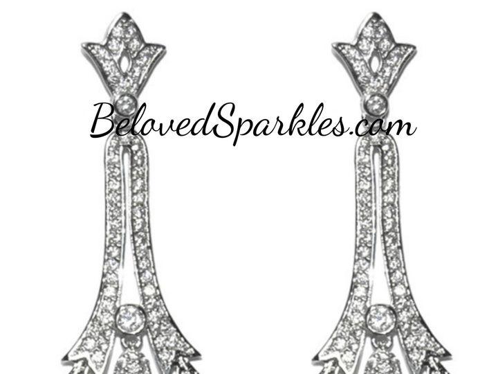 Tmx 1499963310927 1 Lark Cz Art Deco Dangle Chandelier Cubic Zirconi Sierra Madre, CA wedding jewelry