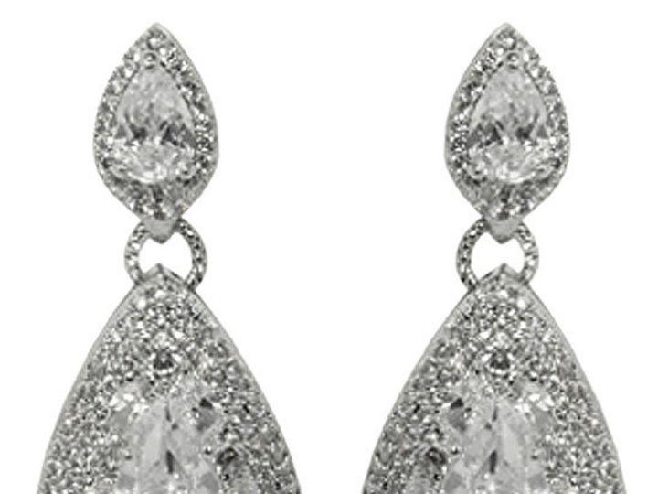 Tmx 1499963461215 1 Bridget Pear Cut Tear Drop Halo Chandelier Cubic Sierra Madre, CA wedding jewelry