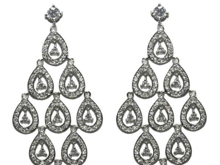 Tmx 1499963504919 1 Chevona Cluster Cz Chandelier Cubic Zirconia Fau Sierra Madre, CA wedding jewelry