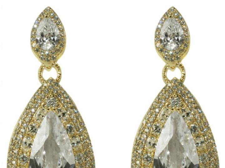 Tmx 1499963544511 1 Bridey 18k Gold Plated Long Dangle Pear Drop Hal Sierra Madre, CA wedding jewelry