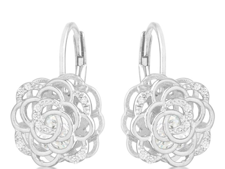 Tmx 1499963626396 1 Maya Floral Flower Rose Drop Silvertone Rhodium  Sierra Madre, CA wedding jewelry