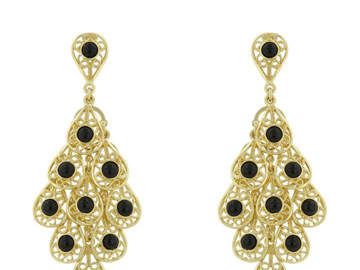 Tmx 1499963700046 1 Phiona Onyx Black Gem Filigree 18k Gold Plated V Sierra Madre, CA wedding jewelry