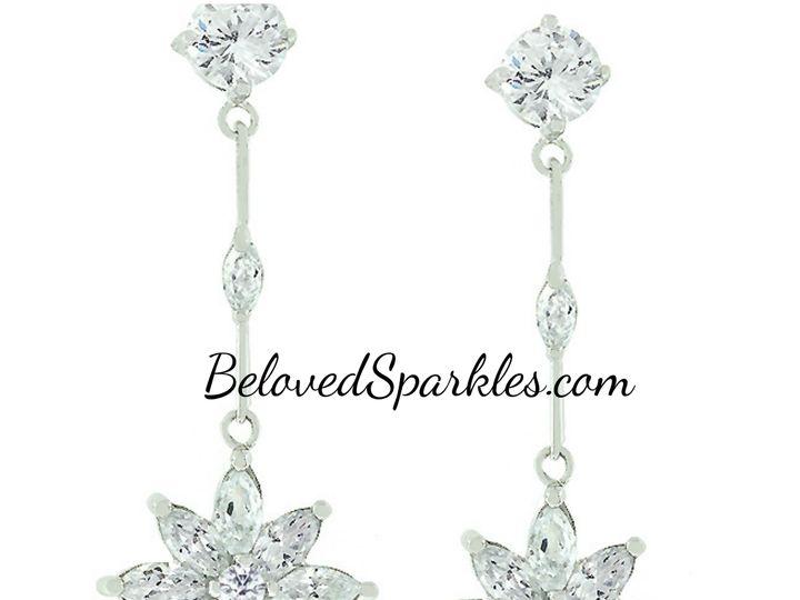 Tmx 1499963720922 1 Landy Vintage Flower Floral Star Drop Marquise C Sierra Madre, CA wedding jewelry