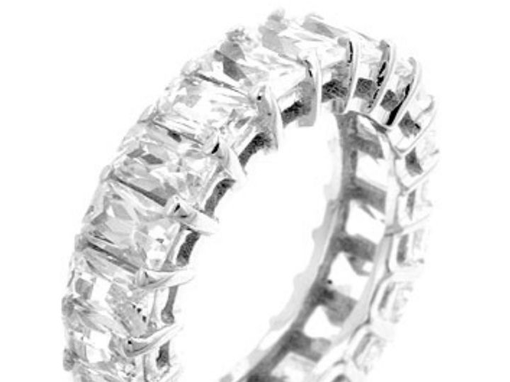 Tmx 1499963792490 1 Riana 8 Carat Radiant Cut Cubic Zirconia Cz Faux Sierra Madre, CA wedding jewelry