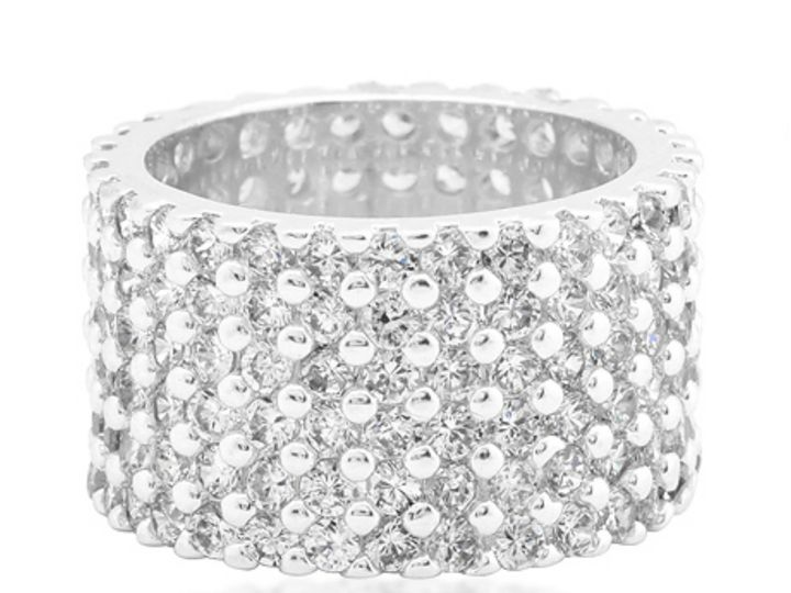 Tmx 1499963815921 3 Tina Wide Paved Cluster Eternity Band 22 Carat C Sierra Madre, CA wedding jewelry