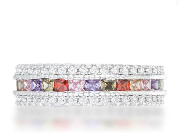 Tmx 1499963839762 3 Paula Multicolor Cz Classic Eternity Cocktail 3  Sierra Madre, CA wedding jewelry