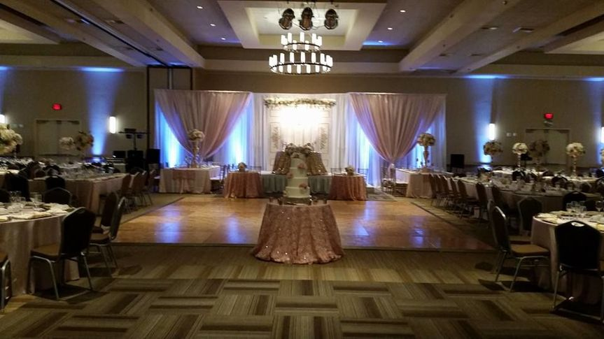 Reception and uplighting