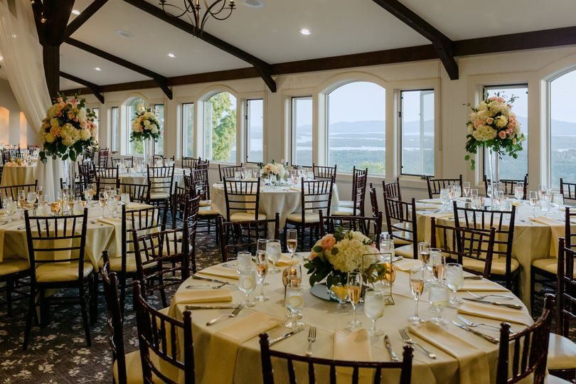 Tall and short centerpieces