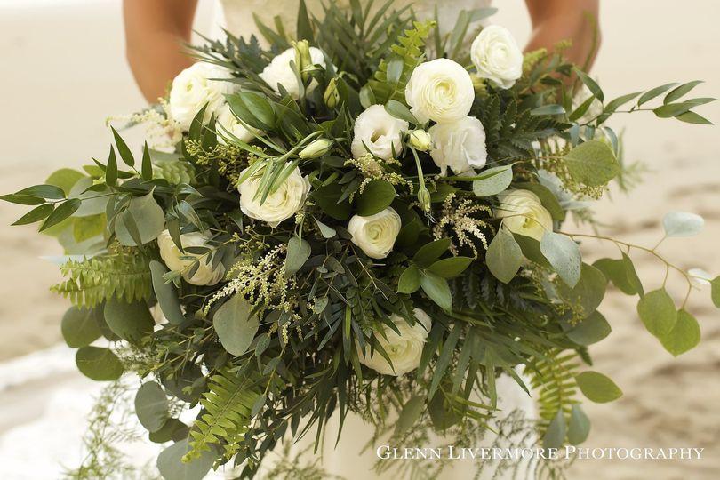 Bride's greenery bouquet