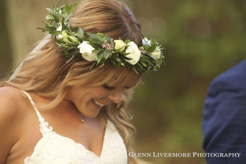 Bridal head wreath