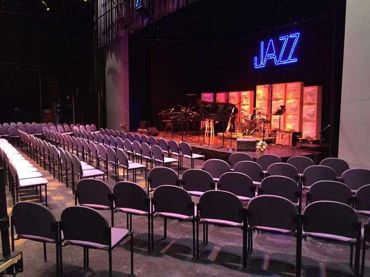 Along with the lobby, the Rozsa Center has a large theater that seats up to 1067.  The backstage...