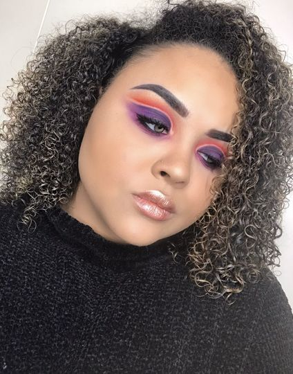 Intricate colorful eye look