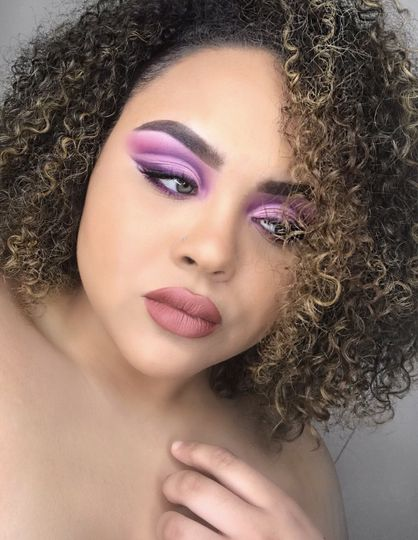 Purple sultry cut crease
