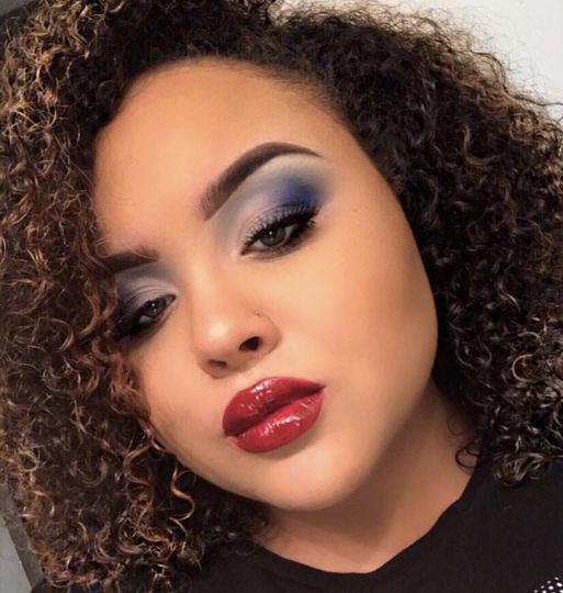 Bold lip and bold eye look
