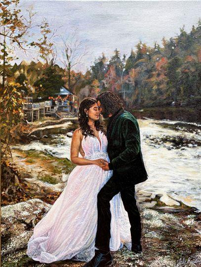 Newlyweds portrait