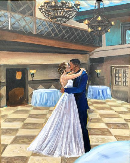 The couples' first dance