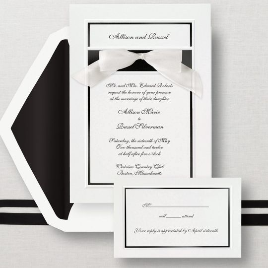 Simplicity  - This bright white card has an embossed border and a bold colored band to showcase your...