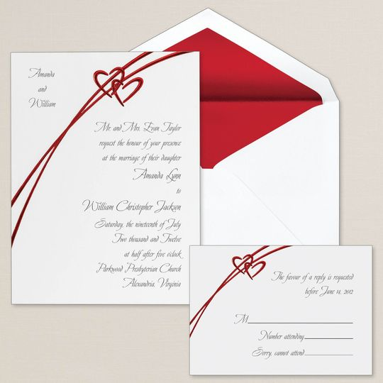 Soaring Hearts - Along with a romantic soaring heart design, this non-folding card features the...