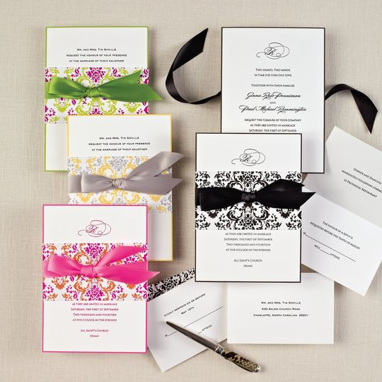 Delightfully Damask- Make a striking statement with our exclusive Delightfully Damask wedding...