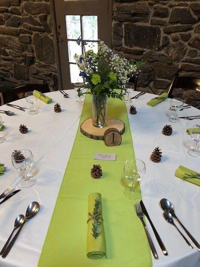 Beautiful table decor at Chief Hosa