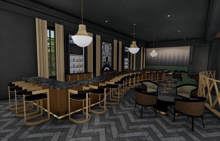 Glamorous bar setting