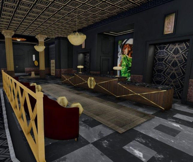 An Art Deco inspired lobby