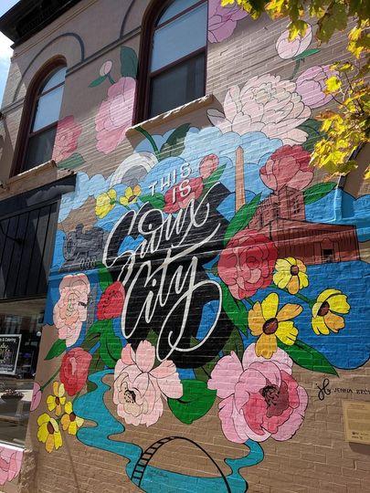 Vibrant Sioux City graffiti
