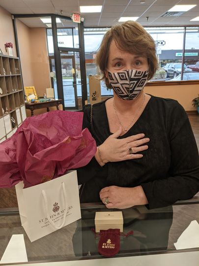 Mrs. Poe with a gorgeous ring!