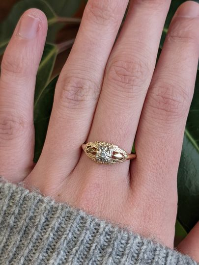 A lovely Deco ring!