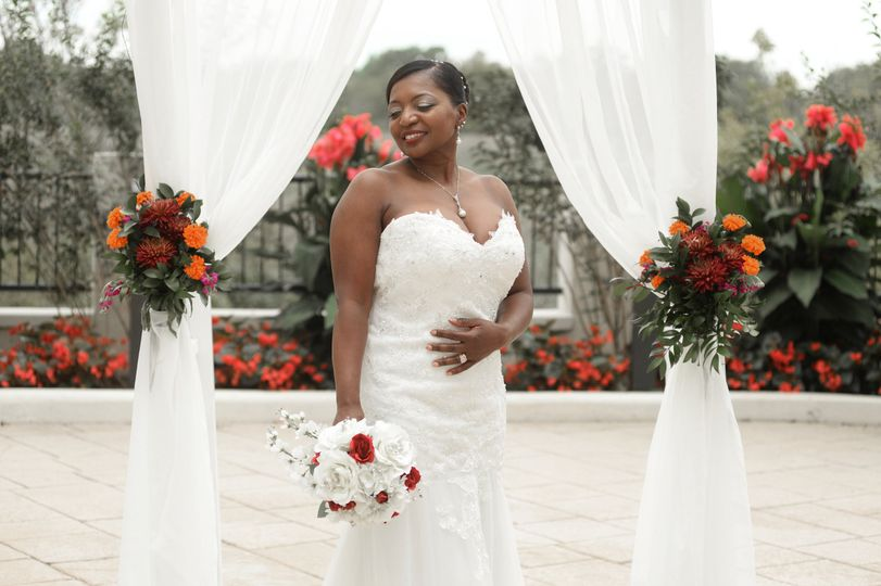 Bride at the altar