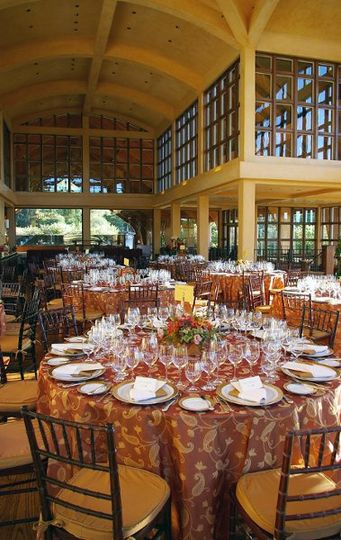 Tables, chairs, linen, and place settings at Chalk Hill. Courtesy of Chalk Hill.