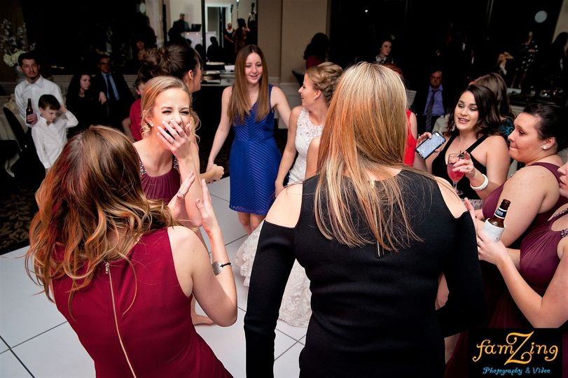 Ladies on the dance floor