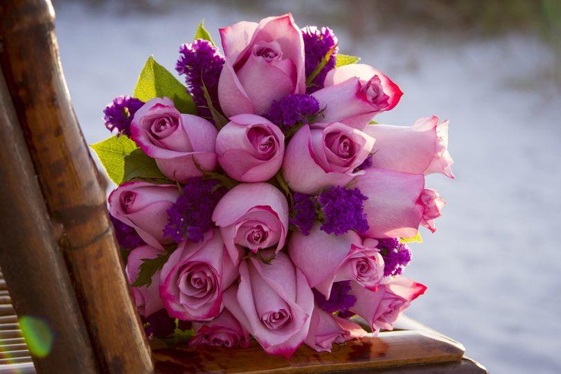 purple roses decor enlarged