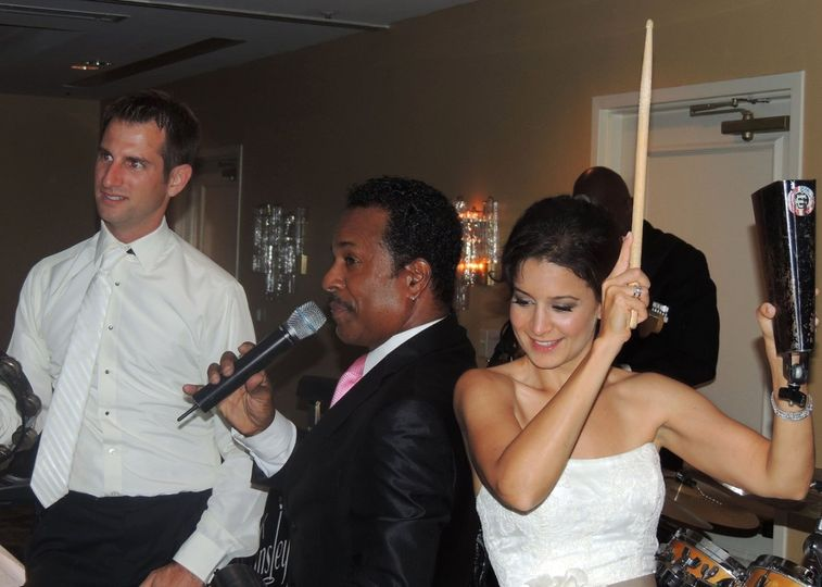 Chuck Wansley After Hours having fun with the Bride & Groom at a wonderful seaside summer wedding in...