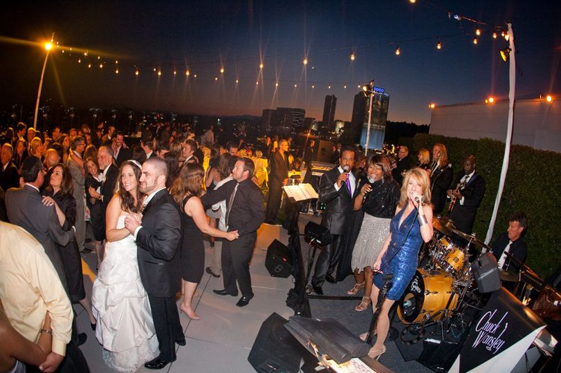 Chuck Wansley After Hours leading the party at a wonderful rooftop wedding at the very posh hotel...