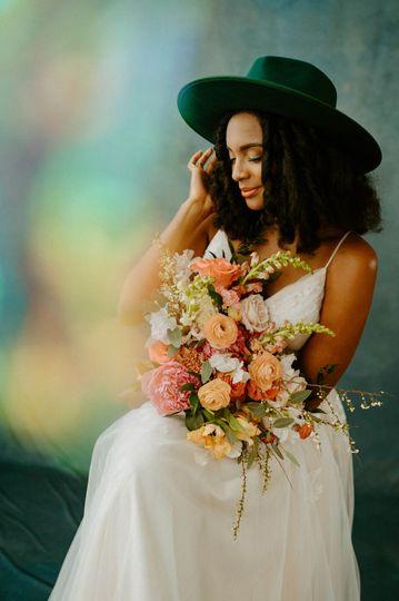 Bridal Bouquet Portrait