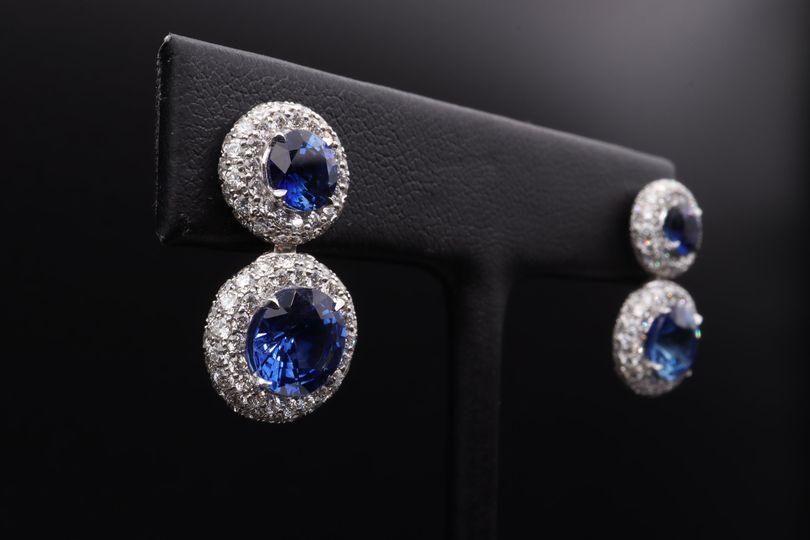 18k gold and sapphire earrings