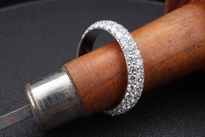 Platinum and Diamond Pave