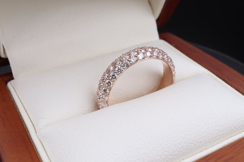 18k rose gold and diamond