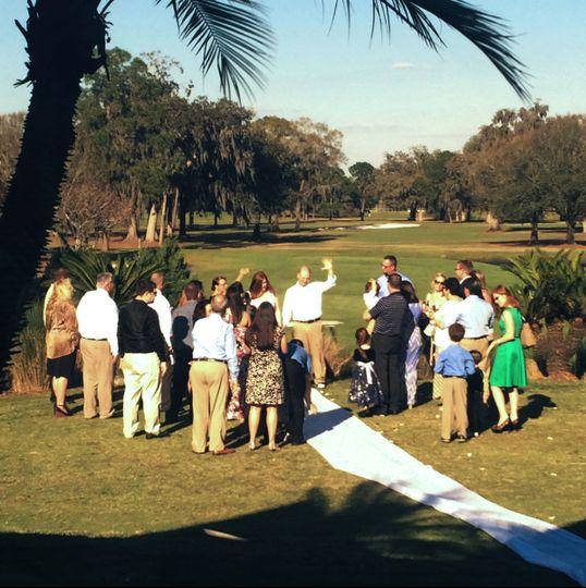 Fall wedding at the Eagles Golf Club
