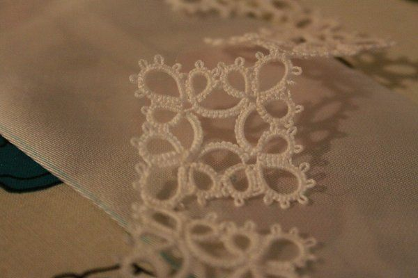 The lace that I tatted for my wedding belt.
