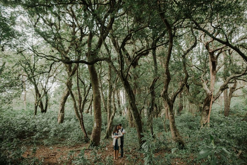Couple in Costa Rica forest