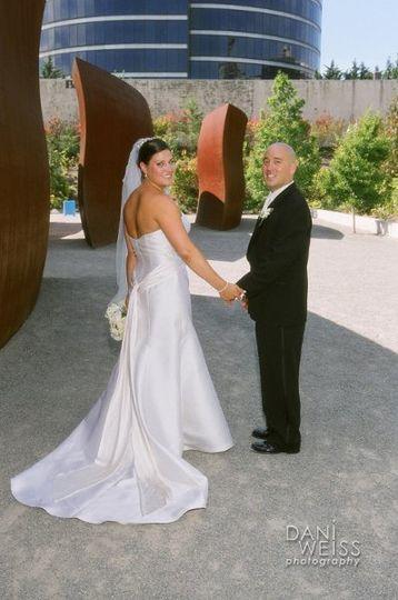 Couple at Seattle Sculpture Park.