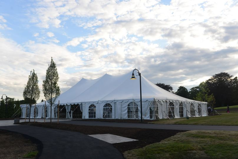The Roger  Williams tent space