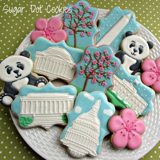 sugar cookies decorated icing wedding washington d