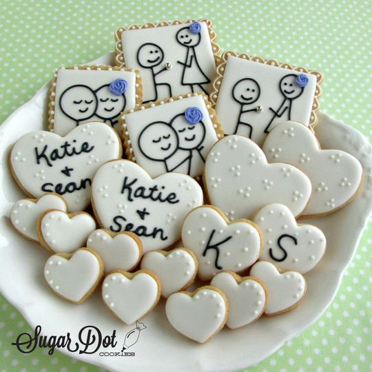 sugar cookies custom decorated royal icing stick f