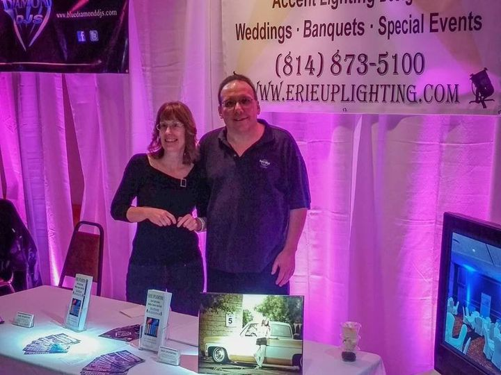 Tmx 1456549558658 Riverside Expo Pink Uplights Erie, Ohio wedding eventproduction